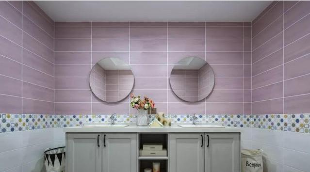 145㎡新美式三室两厅卫浴间装修