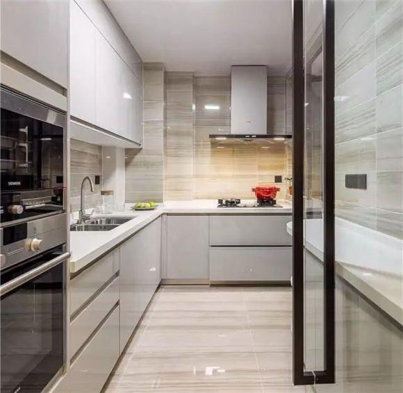现代简约厨房效果图十二