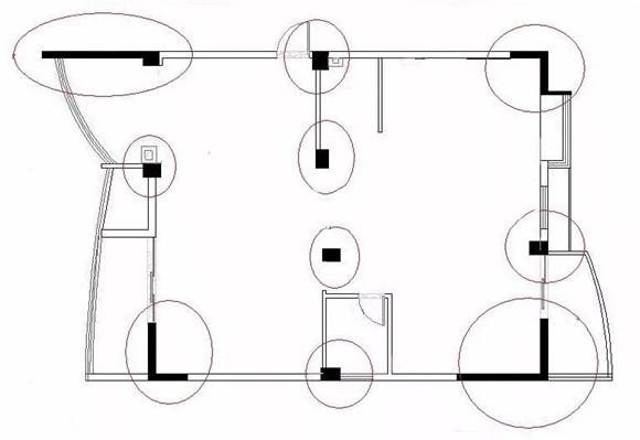 分辨承重墙方法户型图