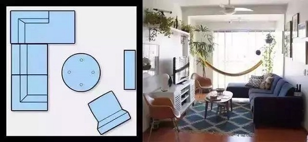 客厅沙发摆放图
