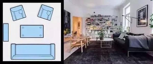 客厅沙发摆放效果图