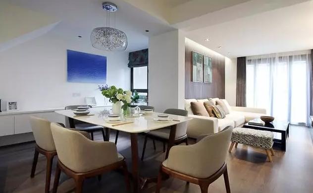 现代风复式新房客餐装修