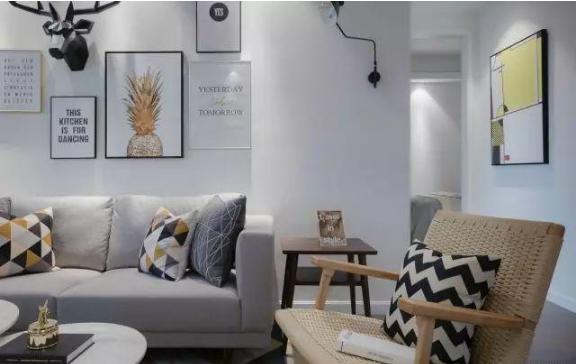 103㎡北欧风格新房客厅细节装修