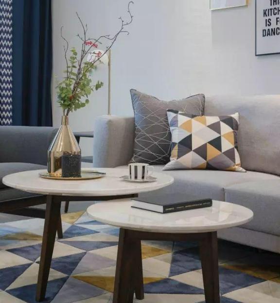 103㎡北欧风格新房客厅软装搭配