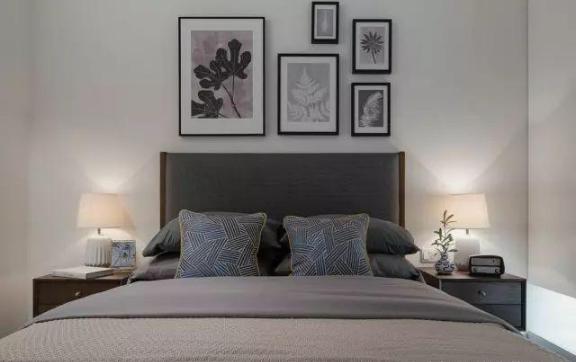 103㎡北欧风格新房卧室装修