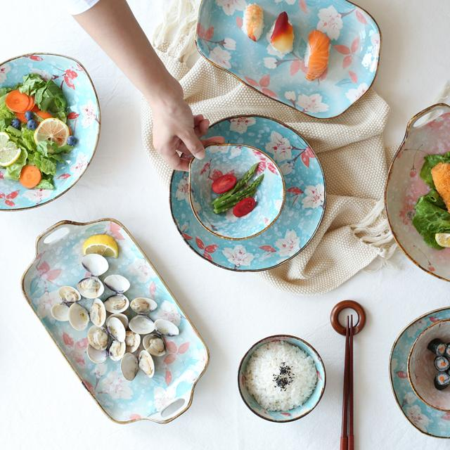 手绘餐具装饰