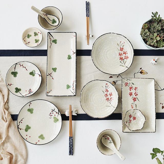 手绘餐具设计