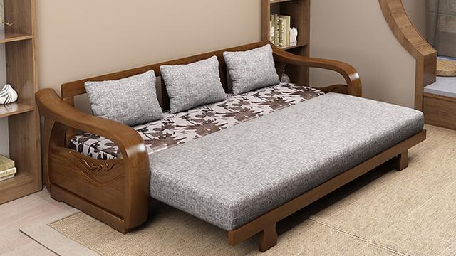 木质沙发墙