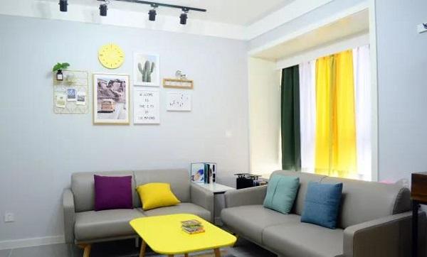 90平米两室一厅客厅效果图