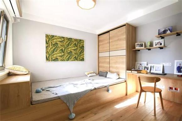 90平米现代北欧风次卧装修
