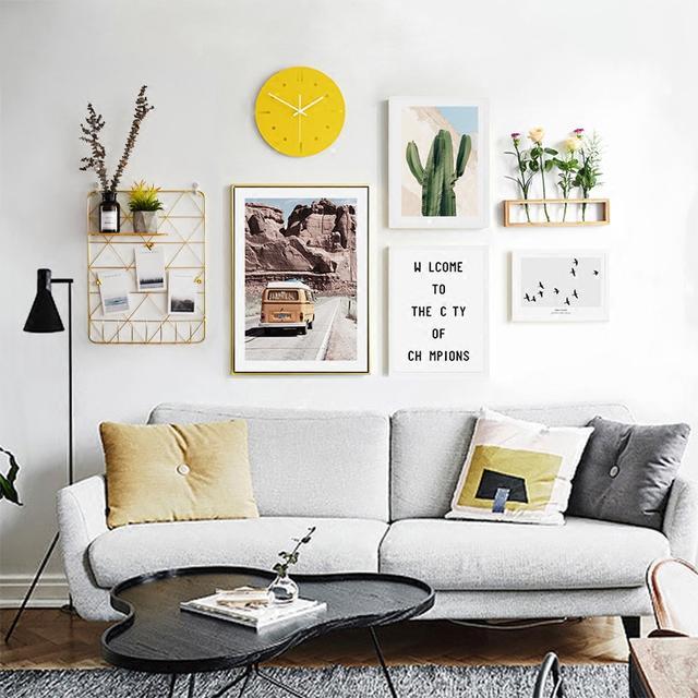 北欧创意照片墙装饰