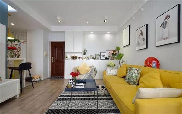 60平米两室一厅装修实景图 精致的北欧两居室