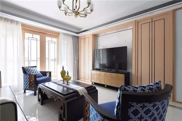 145平米新中式客厅装修