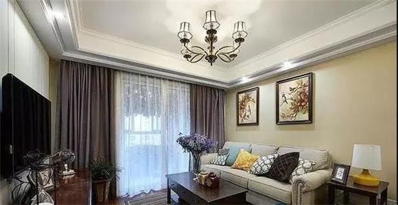 88㎡现代美式小户型客厅装修