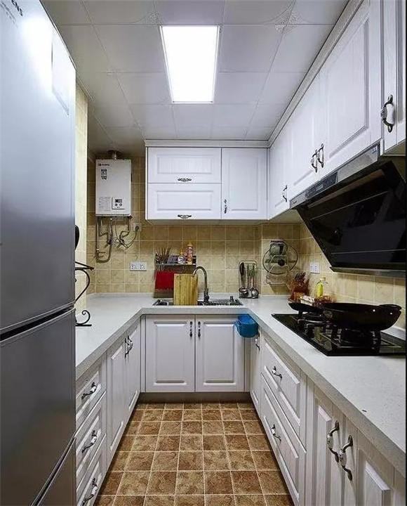 88㎡现代美式小户型厨房装修