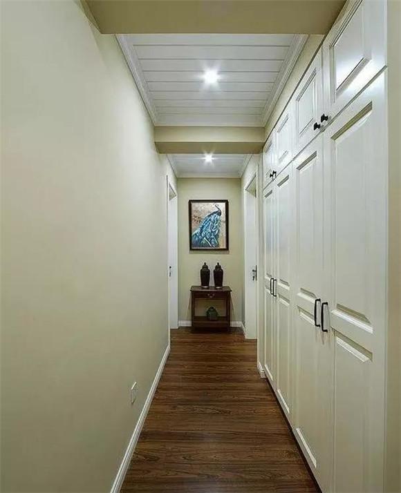 88㎡现代美式小户型走廊装修