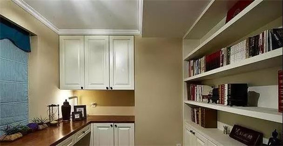 88㎡现代美式小户型书房装修