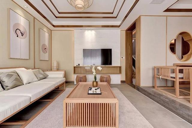 160平米日式风格电视墙装饰