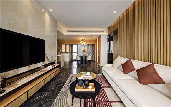88平米新中式客厅装修