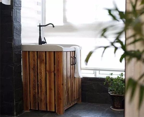 阳台洗手池布置