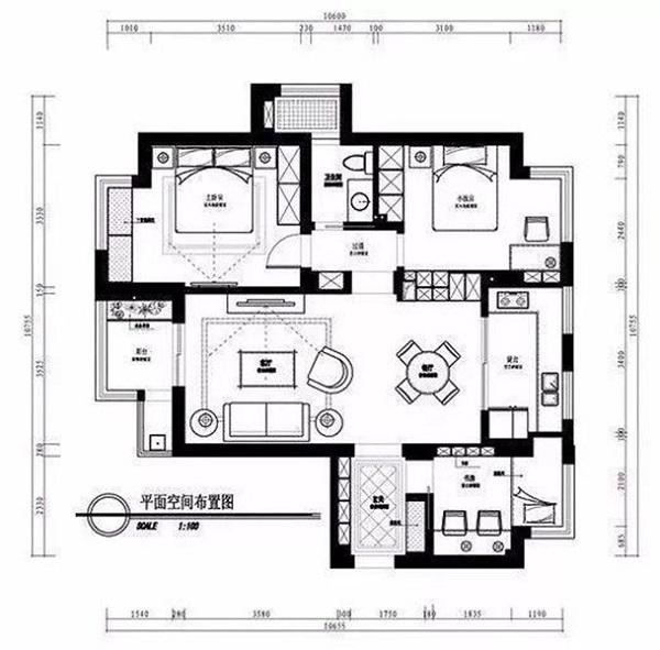 房屋装修布置平面设计稿