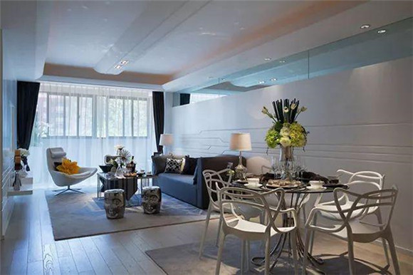 117㎡现代简约三居室餐厅装修