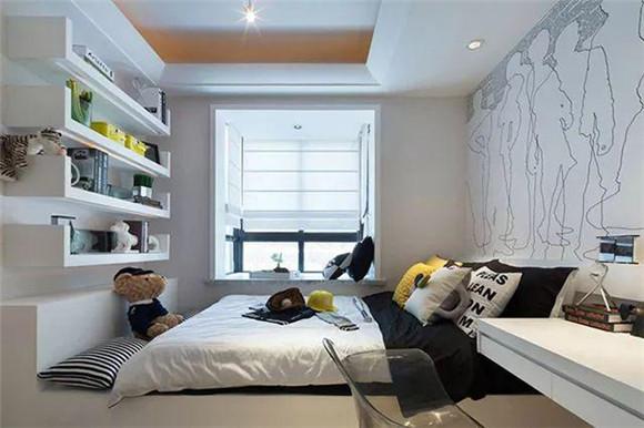 117㎡现代简约三居室次卧装修
