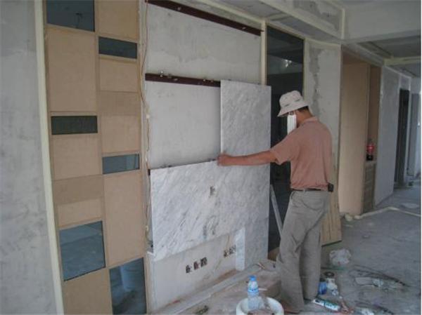 瓷砖电视背景墙