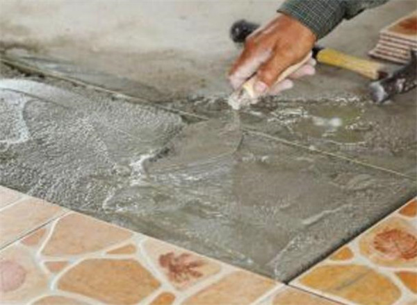 水泥贴出来的瓷砖