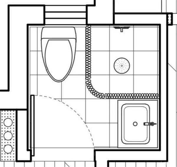 卫生间布局图