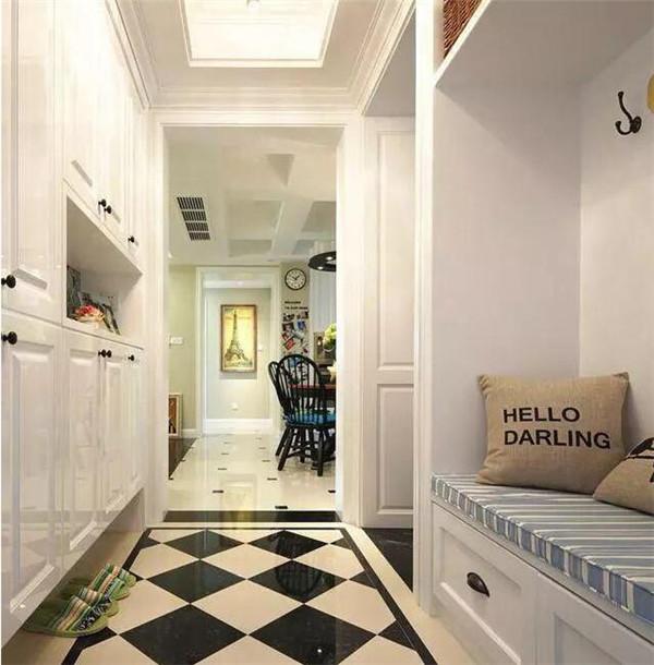 90平米小三室装修案例 眼就被玄关吸引了-通海齐装网