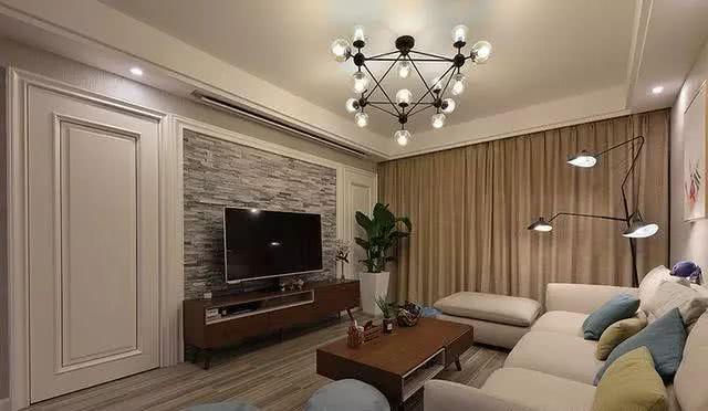 120㎡简约风格电视墙装饰