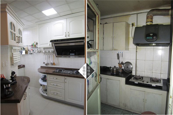 焦作厨房装修前后效果图