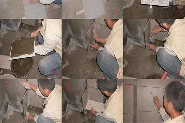 地面瓷砖铺设