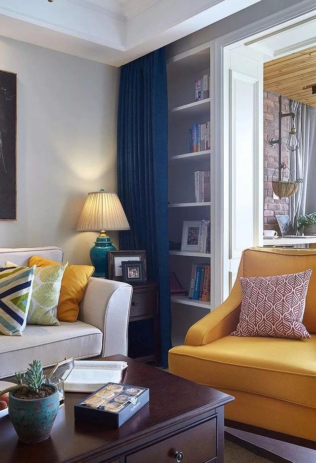 130㎡简约美式客厅装饰