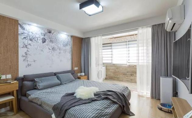 78平米北欧风卧室装修