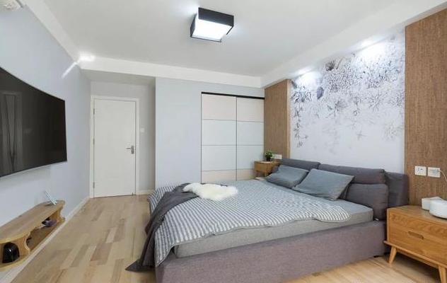 78平米北欧风卧室装饰