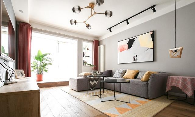 90平米北欧混搭风格两室一厅婚房设计