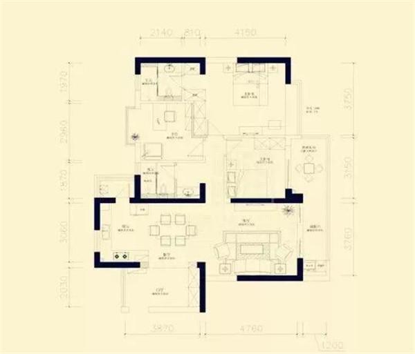 140平米房屋装修户型图