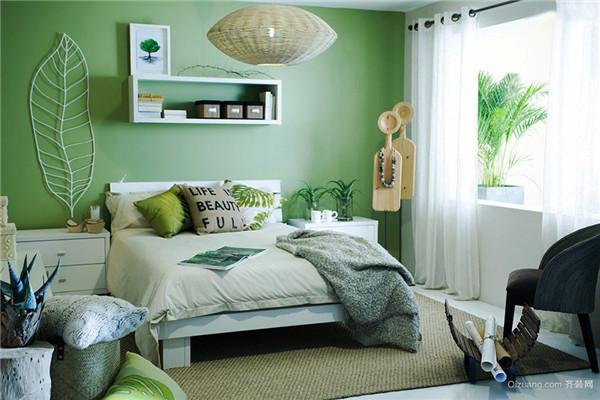 绿色卧室装修效果图