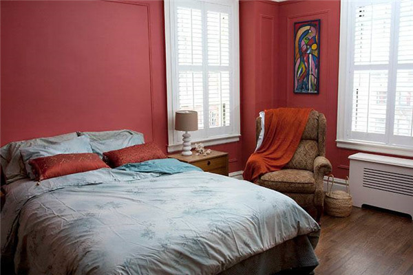 红色卧室装修效果图