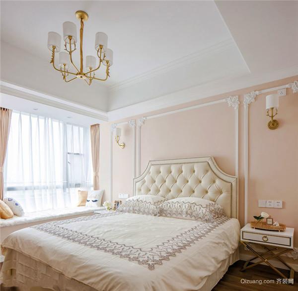 粉红色卧室装修效果图