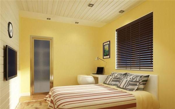 黄色卧室装修效果图