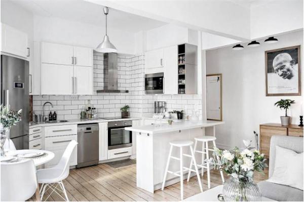 开放式厨房中岛设计