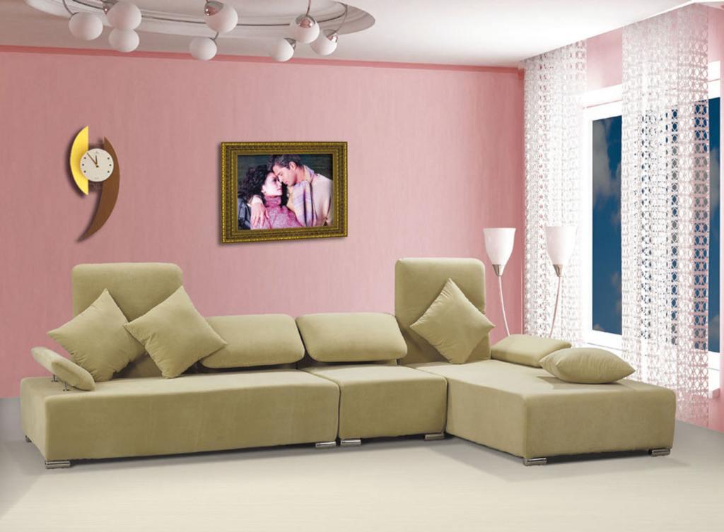粉色系客厅家装颜色
