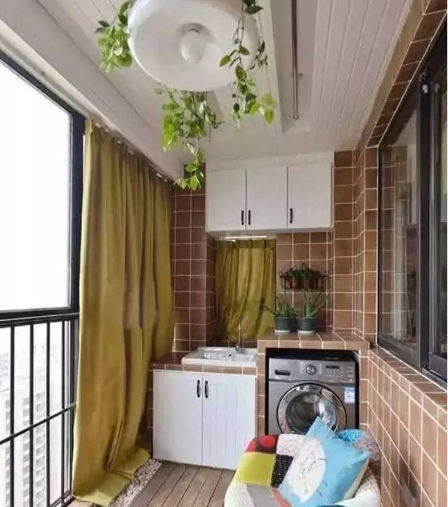 洗衣机放阳台