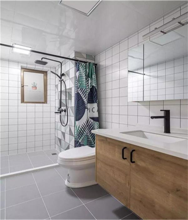 110平米3房北欧风之卫生间