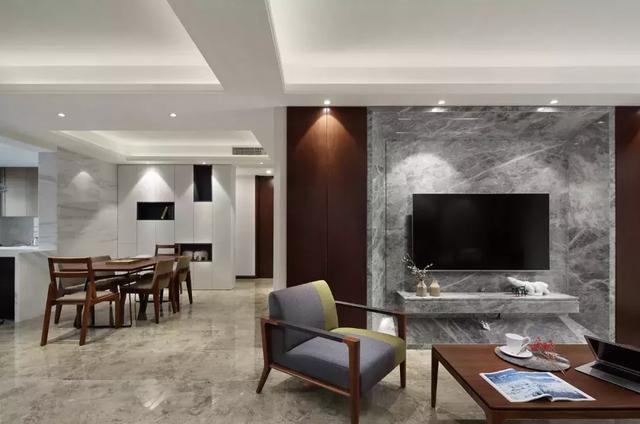 四平160平米现代住宅公寓风装修 属于90后的装修风格