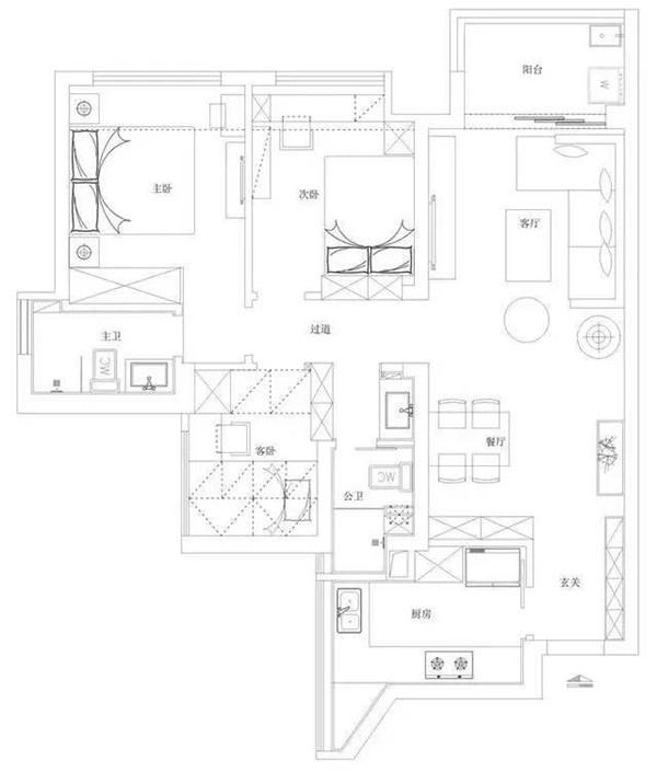 房屋装修布置图