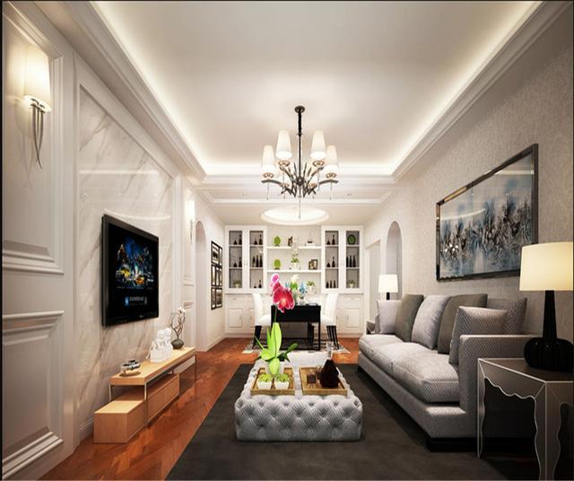 125㎡现代简约风格客厅装修